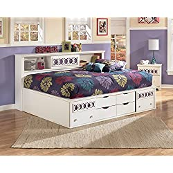 Roundhill Furniture Jura Bookcase Day Bed, Full, White