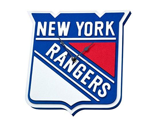 - NFL New York Rangers 3D Foam Wall Clock, One Size, Black