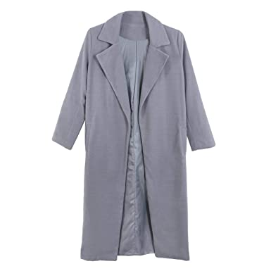 Gabardina Mujer Fashion Casual Color Sólido Hipster Abrigos Primavera Otoño Largos Parka Ropa De Solapa Manga Larga Slim Fit Outerwear Prendas Exteriores: ...