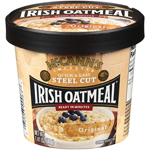 McCann's Instant Oatmeal Cup, Original, 1.4 Ounce (Pack of 12)