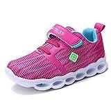DREAM PAIRS Little Kid 170801K Fuch Blue N.Green Light Up Fashion Sneakers Size 13 M US Little Kid