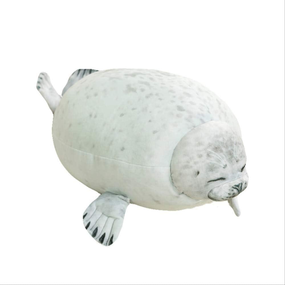 n\a Cute Sea Lion Plush Toys Soft Marine Animal Seal Muñeca De Peluche para Niños Regalo Almohada para Dormir 3D Novedad Throw Pillow 60cm Blanco