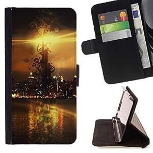 For Samsung Galaxy Core Prime - Sunset Beautiful Nature 114 /Funda de piel cubierta de la carpeta Foilo con cierre magn???¡¯????tico/ - Super Marley Shop -