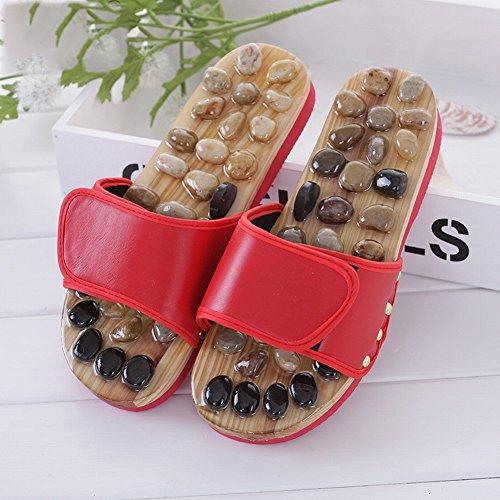 DIDIDD Chaussures Santé Caillou Femmes Et Sandales Massage Maison 44 44 Pied 43 Automne 28 centimètres de yards D'Acupuncture Hommes Rouge Soins Couples Point Massage Y6Ynq0r