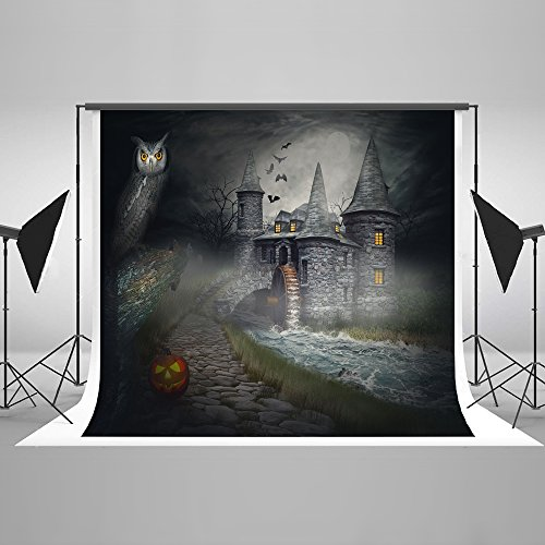 7ft(W) x5ft(H) Halloween Photography Background Pumpkin Lantern with
