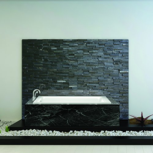 Fine Fixtures Tile-In White Soaking Bathtub, Built in tile flange Fiberglass Acrylic Material (66