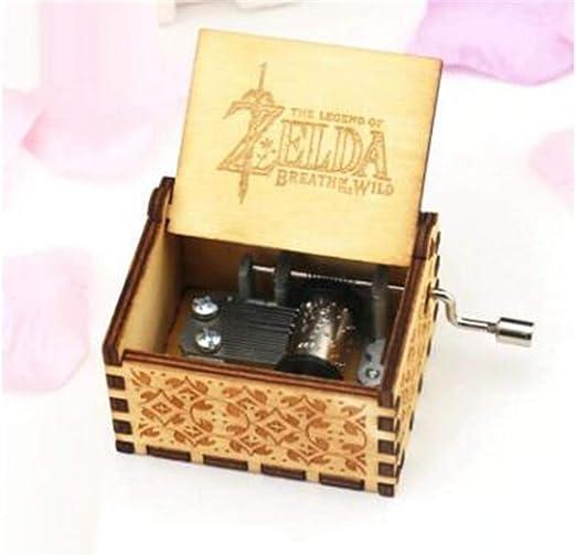 WooMax The Legend of Zelda Caja de música de juguete de manivela antigua tallada cajas musicales mejor regalo para cumpleaños Navidad: Amazon.es: Hogar