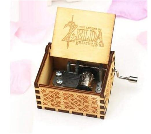 WooMax Caja de música The Legend of Zelda con manivela de ...