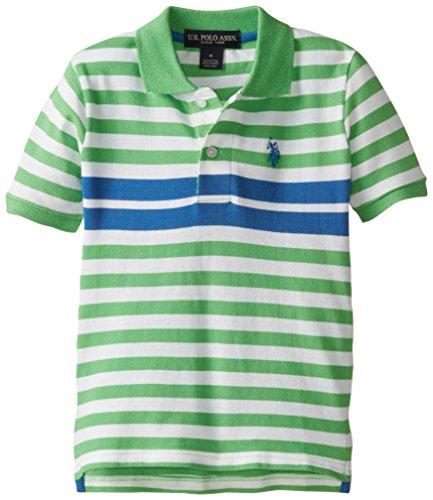 U.S. Polo Assn. Boys' Engineered Stripe Pique Polo Shirt