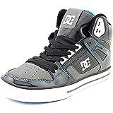 DC Men's Spartan High WC Skate Shoe,Black/Turquoise/Black,9.5 M US