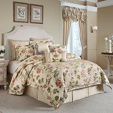 - Croscill Classics Daphne 4 PIece Floral Comforter Set Queen