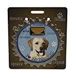 I Love My Yellow Lab: 3 in 1 Coaster, Bottle Opener and Magnet by E&S Pets
