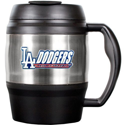 MLB Los Angeles Dodgers 52-Ounce Stainless Steel Macho Travel Mug with Bottle Opener
