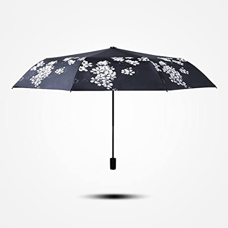 Edge to Cereza Paraguas Plegable Paraguas De Sol Femenino Versión Coreana De Doble Uso Protector Solar