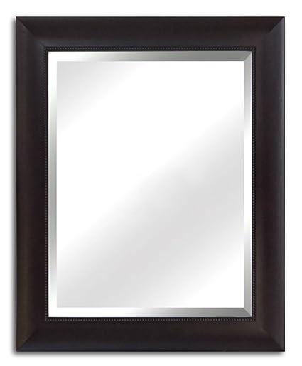West Frames Napa Vanity Bedroom Bathroom Espresso Framed Wall Mirror  30u0026quot; ...
