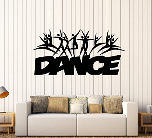 Negativ Wall Decal Dance School Studio Vinyl Removable Mural Art Decoration Stickers for Home Bedroom Nursery Living Room Kitchen by Negativ