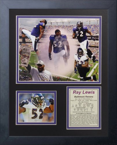 Legends Never Die Ray Lewis Collage, 11-Inch by 14-Inch Framed Photo Collage, 11 by 14-Inch