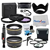 55mm Lens 3 Piece Filter Accessory Kit for Canon, Nikon, Sony, Samsung, UV/CPL/FLD + Telephoto Lens + Wide Angle + Lens Hood + 4 Piece Macro Filter Kit + Tabletop Tripod/Handgrip - Accessory Bundle