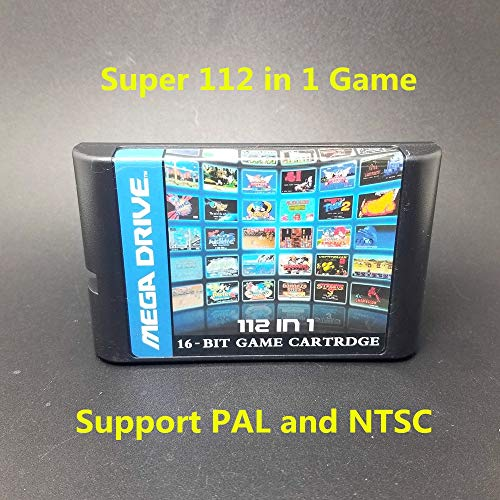 Value-Smart-Toys - Super 112 in 1 Game Card with Game Contra Vectorman Double Dragon Battletoads Ninja Gaiden Turtles for Sega Megadrive Genesis