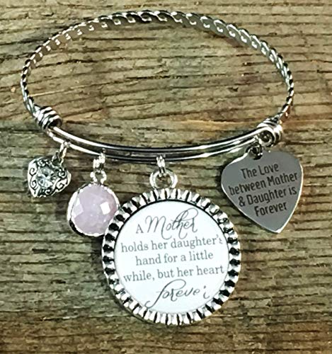 Mom gifts, Daughter gift from mom, mother of the bride, Gifts for Mom, Mother daughter jewelry, charm bracelet, daughter birthday gift, mother holds her daughter's -
