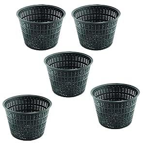 5 x 14 cm 1 litro notebookbits redondo plástico aponeurosis nasas cestas para plantas de agua y estanques