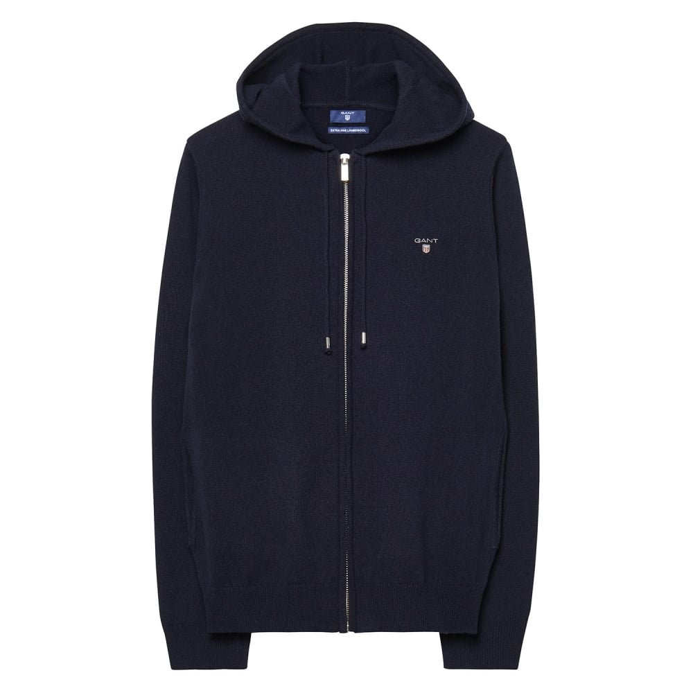 GANT Super Fine Lambswool Ladies Zip Hoodie Marine S