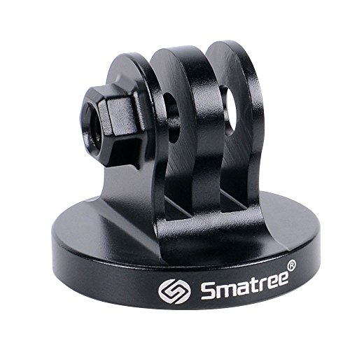 Smatree Aluminum Tripod Mount Adapter for GoPro Session, Hero Fusion, 6, 5, 4, 3+, 3, 2, 1 HD, Black