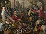 Oil Painting 'Joachim Beuckelaer The Four Elements Air', 20 x 27 inch / 51 x 70 cm , on High Definition HD canvas prints is for Gifts And Bath Room, Powder Room And Study Room Decoration