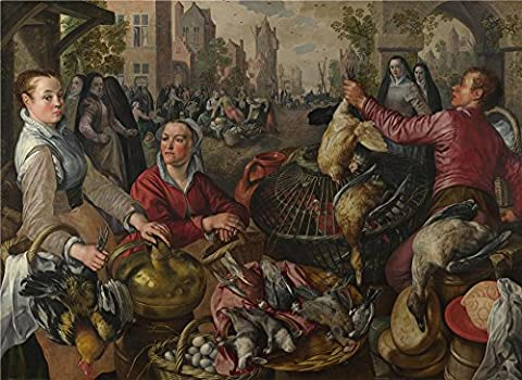 High Quality Polyster Canvas ,the High Definition Art Decorative Canvas Prints Of Oil Painting 'Joachim Beuckelaer The Four Elements Air ', 18 X 25 Inch / 46 X 63 Cm Is Best For Kids Room Gallery Art And Home Gallery Art And (Bunny Air Dancer)