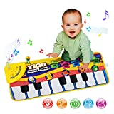 CalorMixs Keyboard Musical Piano Dancing Mat Crawl Mat Soft Funny Animals Baby Toy Blanket Touch Play Learn Singing Gift Carpet Kids Baby Piano Toy (Piano Mat)