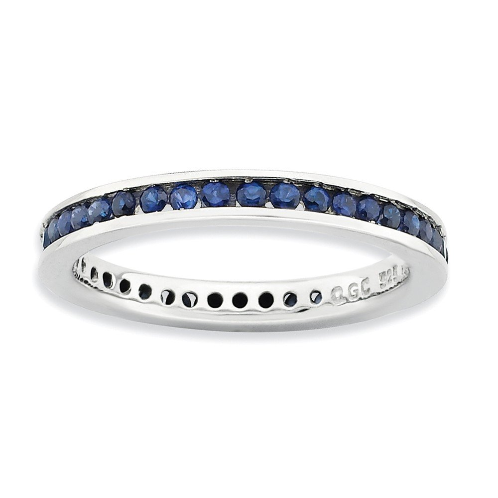 Roy Rose Jewelry Sterling Silver Stackable Expressions Created Sapphire Ring Size 6