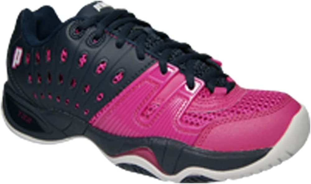 Prince Women s T22 Tennis Shoes Navy and Punch- 084962936690