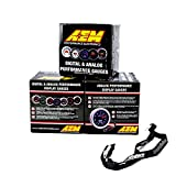 #7: AEM 52mm Gauge Combo Air/Fuel Wideband UEGO & Oil Pressure 150psi & Boost 30-35 w/MAP Lanyard Black