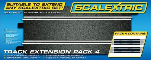 Scalextric C8526 Track Extension Pack 4 - Straights 1:32 Scale Accessory by Scalextric (Scalextric Track Extension Pack)