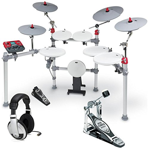 KAT KT3 Advanced High Performance Digital Drum Set w/ Single Bass Drum Pedal and Headphones by Kat
