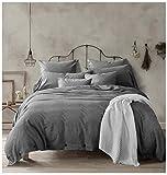Doffapd Duvet Cover King, Washed Cotton Duvet Cover Set - 3 Piece