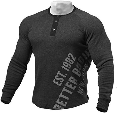 【フィットネス横浜】BETTER BODY ロングスリーブ Tシャツ/ダークグレー/フィットネス/トレーニング/筋トレ/ファッション/フィジーク/ジム/ボディビル/ワークアウト/ベストボディ/アメリカン
