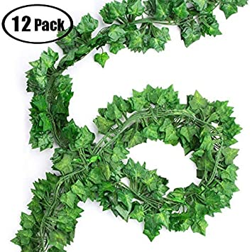 Wzoed Efeu Blatter Garland Kunstliche Pflanzen 90 Ft 12 Pack