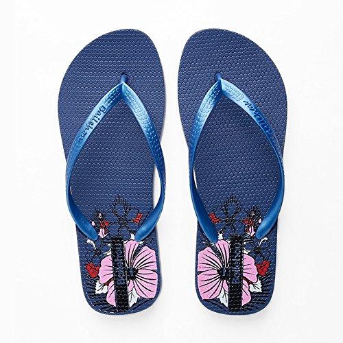 pantofola SSYY Floreale pantofole 005 con slittata morbido Sandali casual Donna Appartamento qfwqHU1z