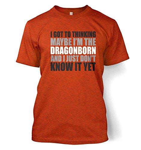 Thinking I'm The Dragonborn Herren t-shirt (X-Large (46/48)/Antique Orange)