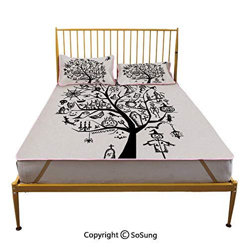 Halloween Decorations Creative King Size Summer Cool Mat,Sketchy
