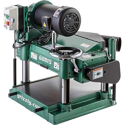 "Grizzly Industrial G0815-15"" 3 HP Heavy-Duty Planer"