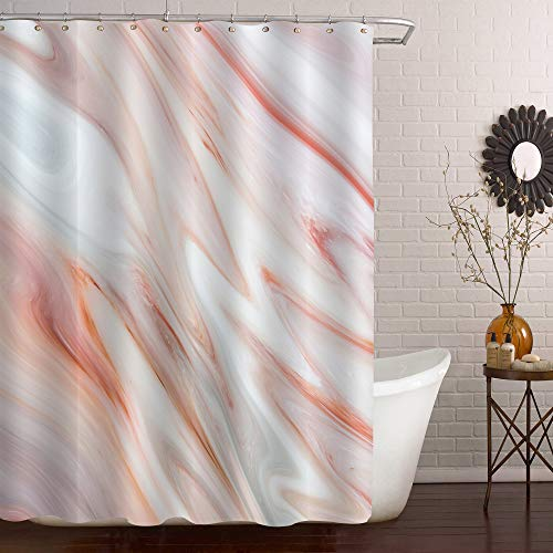 orange and grey shower curtain - 9