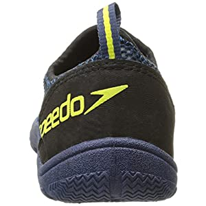 Speedo Men's Seaside Lace 4.0 Water Shoe, Black/Blue, 14 M US