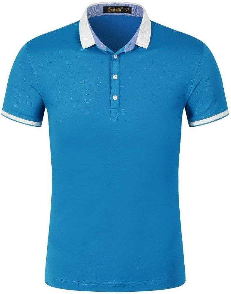 Polo Camisa Unisex Hombre N Hombres Mujeres Camisa Polo Ropa Camisa Básica Algodón Clásico Manga Corta Color Sólido (Color : Azul, Size : S): Amazon.es: Ropa y accesorios