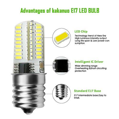 Kakanuo E17 LED Bulb Microwave Oven Light Dimmable 4 Watt