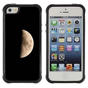 CAZZ Funda Carcasa Bumper con Absorción de Impactos y Anti-Arañazos Espalda Slim Rugged Armor // Space Planet Galaxy Stars 43 // Apple Iphone 5 / 5S