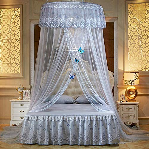Hanging Mosquito Net Summer Home Decor Gauze Lace Canopy Curtain Round Dome Baby Ding Netting L20 - Mosquito Net