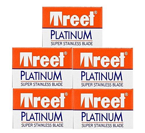 50 Treet Platinum Double Edge Razor Blades