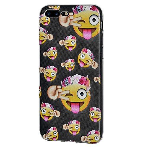 """Amzer Coque """"Face avec collé de langue avec clin Eye"""" Transparent Coussin en gel souple en TPU pour Apple iPhone 7Plus"""